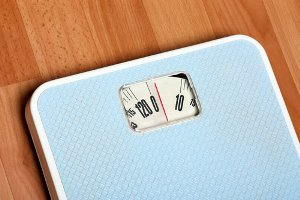 Blue weight scale