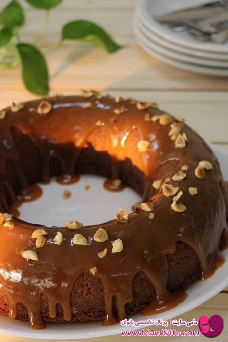 کیک با نام مهسا کویک میکس شیر عسلی